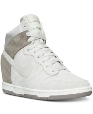 Nike Women's Dunk Sky Hi Suede Casual Sneakers from Finish Line