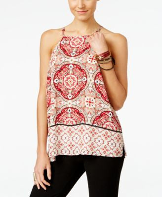 INC International Concepts Petite Printed Halter Top, Only at Vogily