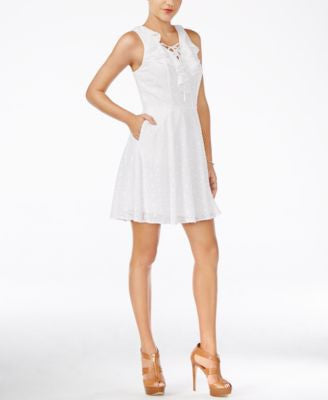 GUESS Alessandra Ruffled A-Line Dress