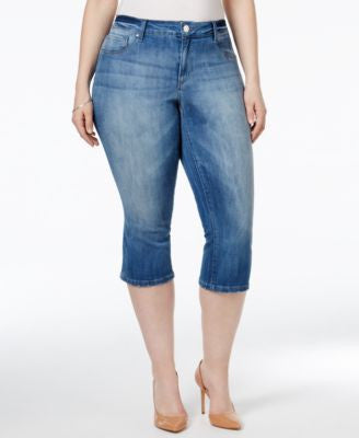 Jessica Simpson Plus Size Royal Wash Skimmer Jeans