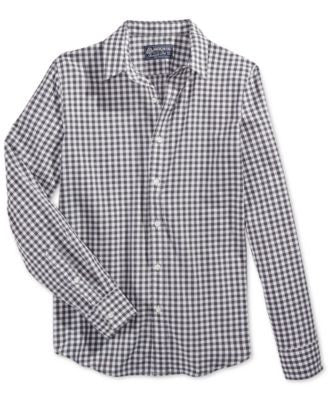 American Rag Men's Check Print Shirt, Only at Vogily
