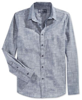 American Rag Men's Textured Print Shirt, Only at Vogily