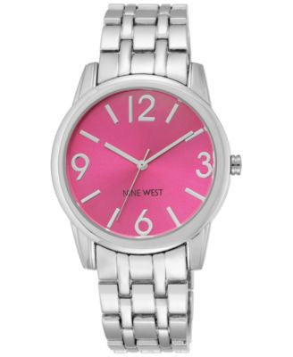 Nine West Women's Stainless Steel Bracelet Watch 39mm NW/1765PKSB