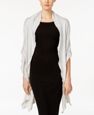 Style & Co. Metallic Foil Evening Wrap, Only at Vogily