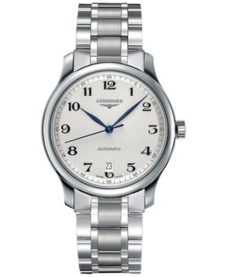 Longines Watch, Men's Swiss Automatic Master Stainless Steel Bracelet 39mm L26284786