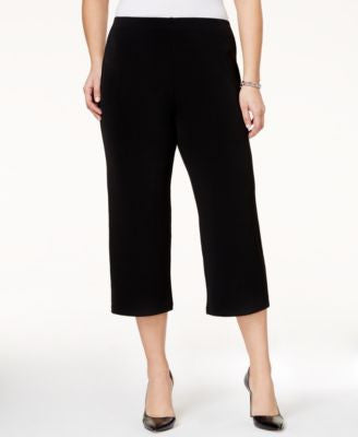 Alfani Plus Size Pull-On Culotte Soft Pants, Only at Vogily