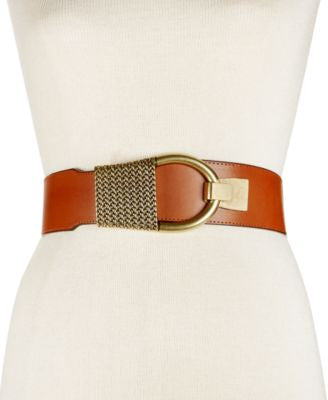 INC International Concepts Hook-Front Stretch Belt, Only at Vogily
