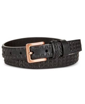 Calvin Klein Jeans Woven Strip Double Keeper Belt