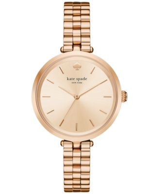 kate spade new york Women's Holland Rose Gold-Tone Stainless Steel Bracelet Watch 34mm KSW1134