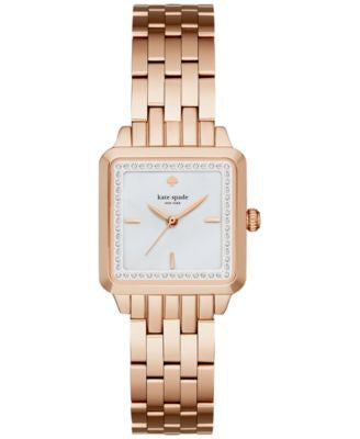 kate spade new york Women's Washington Square Rose Gold-Tone Stainless Steel Bracelet Watch 25mm KSW