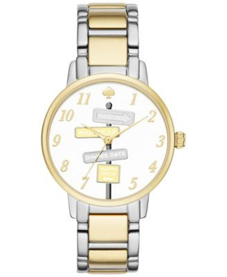 kate spade new york Women's Gramercy Two-Tone Stainless Steel Bracelet Watch 34mm KSW1129