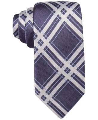 Ryan Seacrest Distinction Men's Bedford Slim Grid Tie, Only at Vogily