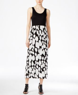 kensie Contrast-Print Maxi Dress