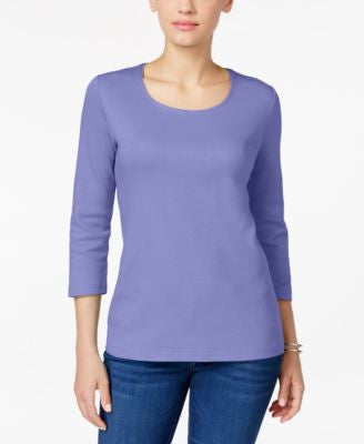 Karen Scott Scoop-Neck Top, Only at Vogily
