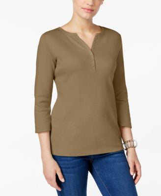 Karen Scott Henley Top, Only at Vogily