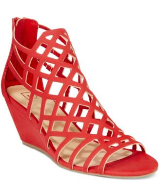 Material Girl Henie Caged Demi Wedge Sandals, Only at Vogily