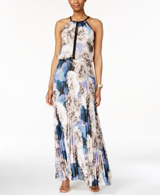 Xscape Chiffon Keyhole Halter Maxi Dress