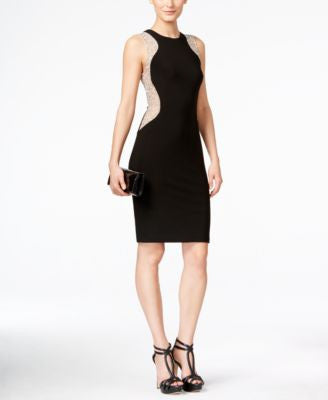 Xscape Illusion Racer Studded Party Dress