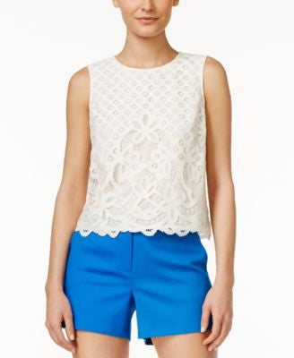 CeCe Lace Sleeveless Blouse