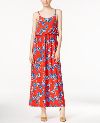 CeCe Sleeveless Floral-Print Maxi Dress