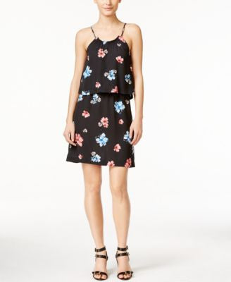CeCe Floral-Print Popover Dress