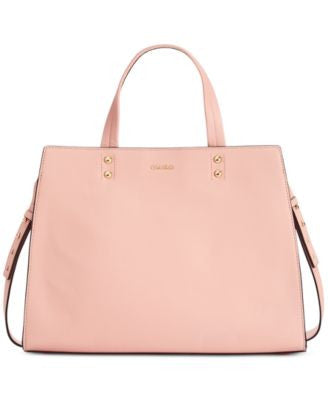 Calvin Klein Premium Leather Convertible Tote