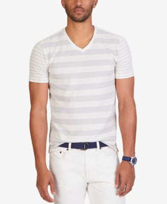 Nautica Men's Slim Fit Stripe V-Neck T-Shirt