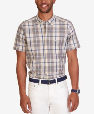 Nautica Men's Sorbet Plaid Short-Sleeve Shirt