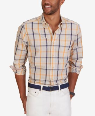 Nautica Men's Sail Plaid Long-Sleeve Shirt