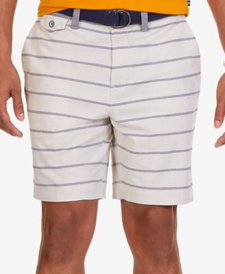 Nautica Men's Modern-Fit Stripe Oxford Shorts