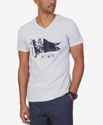 Nautica Men's Flag Graphic-Print V-Neck T-Shirt
