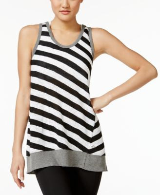 Calvin Klein Performance Striped Sleeveless Tunic