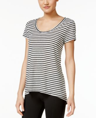 Calvin Klein Performance Striped Cutout-Back T-Shirt