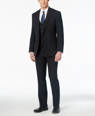 Kenneth Cole Reaction Men's Slim-Fit Black Vested Suit