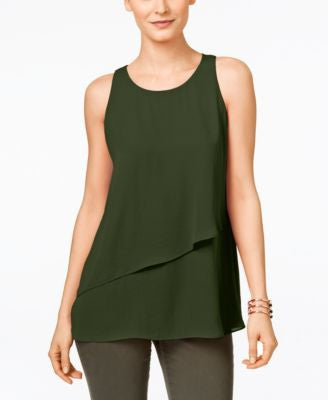 Karen Kane Asymmetrical Layered Tank Top