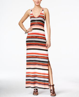 Karen Kane Alana Sleeveless Striped Maxi Dress