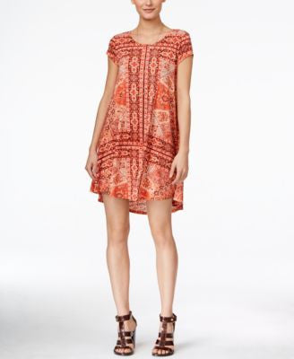 Karen Kane Maggie Short-Sleeve Printed Shift Dress