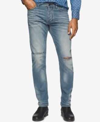 Calvin Klein Jeans Men's Sea Floor Faded Slate Wash Jeans
