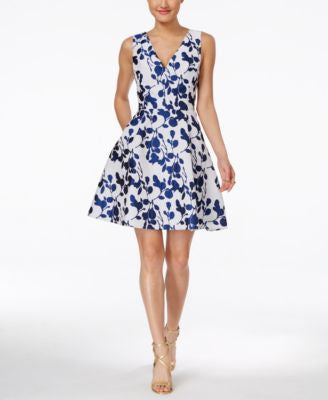 Betsey Johnson Sleeveless Floral Fit & Flare Dress