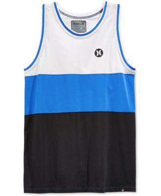 Hurley Men's Stripe Colorblock Tank Top