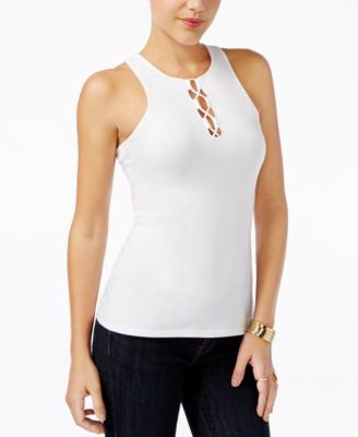 GUESS Maja Sleeveless Lace-Up Top, A Vogily Exclusive Style