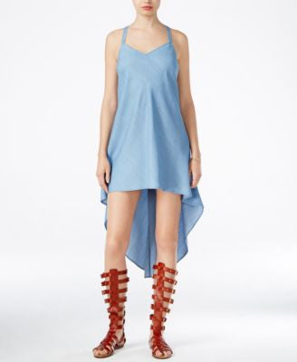 GUESS Flara Denim High-Low Slip Dress
