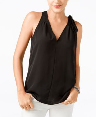GUESS Abree Sleeveless Bow-Tie Top