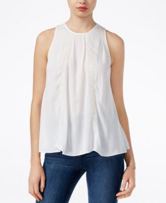 GUESS Miri Sleeveless Embroidered Top