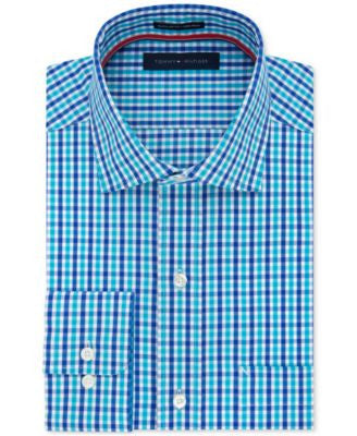 Tommy Hilfiger Men's Classic-Fit Non-Iron Tattersall Dress Shirt