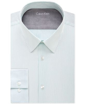 Calvin Klein Men's X Extra Slim-Fit Bermuda Striped Dress Shirt