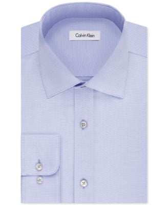 Calvin Klein STEEL Men's Classic-Fit Non-Iron Performance Dot Dress Shirt
