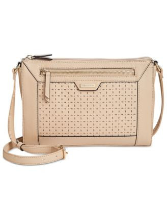 Tignanello Frame Perforated Leather Crossbody