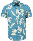 Volcom Men's Brush Palm-Print Short-Sleeve Shirt