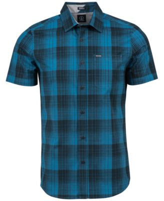 Volcom Men's Icarus Plaid Short-Sleeve Shirt
